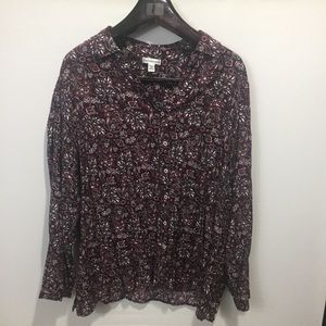 Croft & Barrow floral button up top. Size 2X